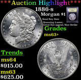 ***Auction Highlight*** 1886-s Morgan Dollar $1 Graded Select+ Unc By USCG (fc)