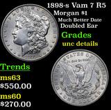 1898-s Vam 7 R5 Morgan Dollar $1 Grades Unc Details