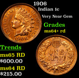 1906 Indian Cent 1c Grades Choice+ Unc RD
