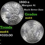 1890-s Morgan Dollar $1 Grades Choice Unc