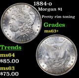 1884-o Morgan Dollar $1 Grades Select+ Unc