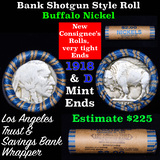Buffalo Nickel Shotgun Roll in Old Bank Style 'Los Angeles Trust And Savins Bank'  Wrapper 1918 & d
