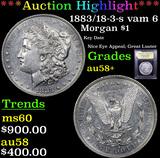 ***Auction Highlight*** 1883/18-3-s vam 6 Morgan Dollar $1 Graded Choice AU/BU Slider+ By USCG (fc)