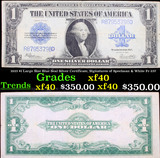 1923 $1 Large Size Blue Seal Silver Certificate, Signatures of Speelman & White Fr-237 Grades xf