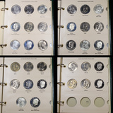 Complete  Eisenhower Dollar  Book 1971-1978 32 coins