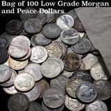 ***Auction Highlight*** Bag of 100 Low Grade Morgan And Peace Dollar (fc)