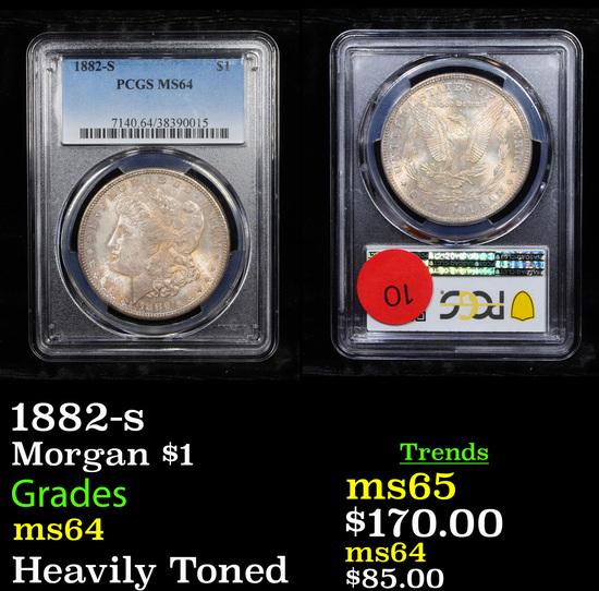 PCGS 1882-s Morgan Dollar $1 Graded ms64 By PCGS