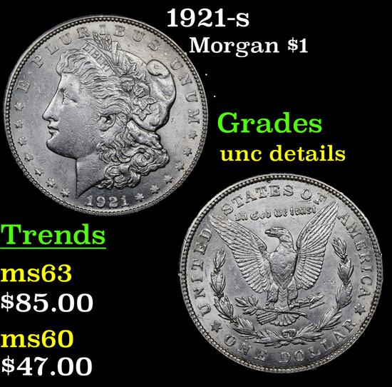 1921-s Morgan Dollar $1 Grades Unc Details