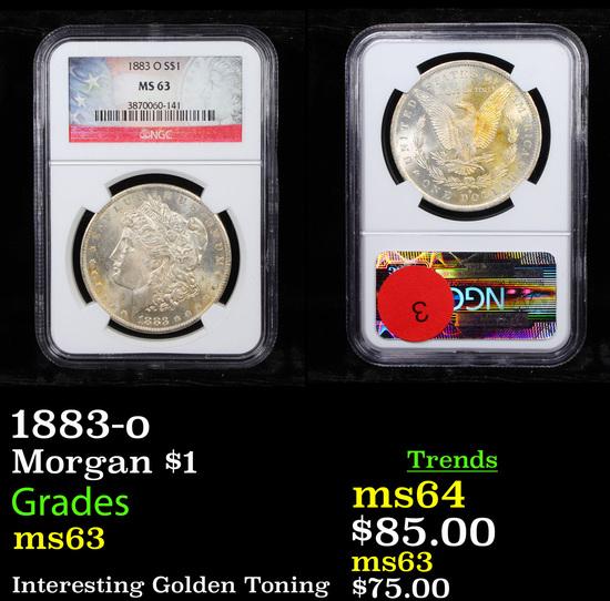 NGC 1883-o Morgan Dollar $1 Graded ms63 By NGC