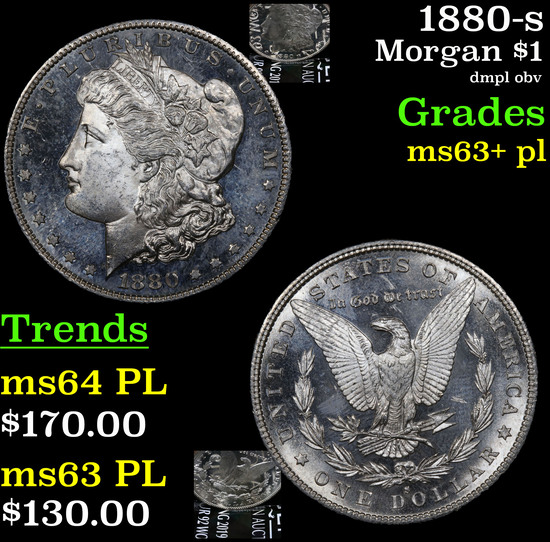 1880-s Morgan Dollar $1 Grades Select Unc+ PL