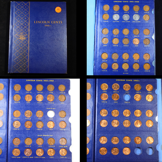 Complete Lincoln Cent Book 1941-1965 84 coins