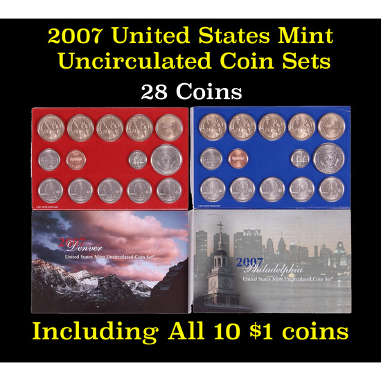 2007 United States Mint Uncirculated Coin Set 28 coins