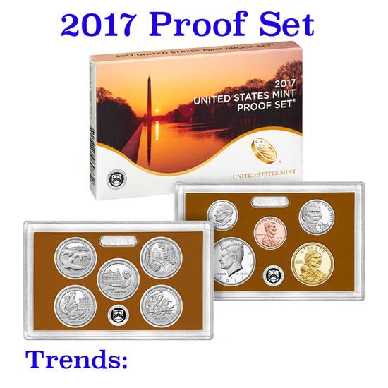 2017 United States Mint Proof Set - 10 pc set
