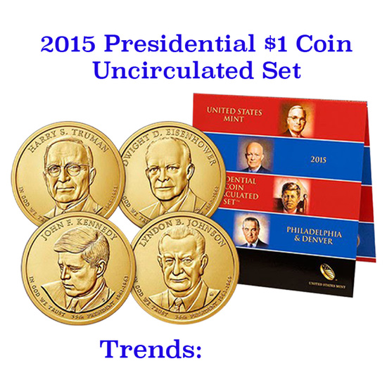 2015 United States Presidential Mint Set 8 Coins