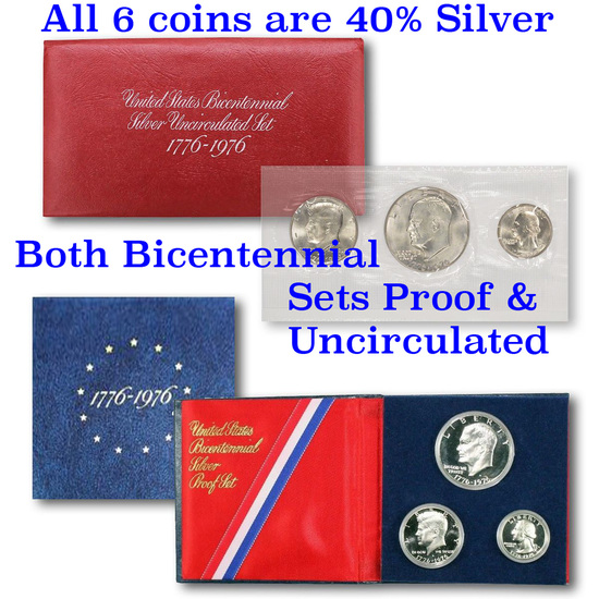 """1776-1976 Bicentennial Silver Uncirculated set, the """"Red Pack"""""""