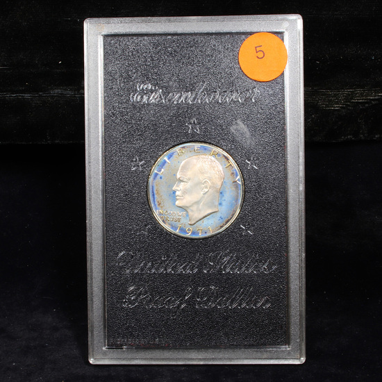Proof 1971-s Proof Brown Ike In Us Mint Packaging No Box Eisenhower Dollar $1 Grades proof