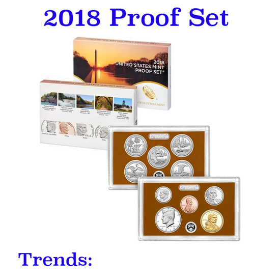2018 United States Mint Proof Set - 10 Pieces!
