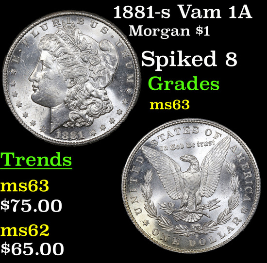 1881-s Vam 1A Morgan Dollar $1 Grades Select Unc