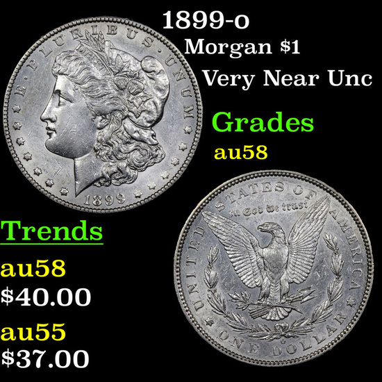1899-o Morgan Dollar 1 Grades Choice AU/BU Slider