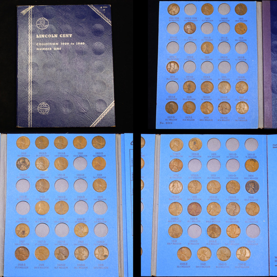 Partial Lincoln Cent Book 1909-1940 57 coins