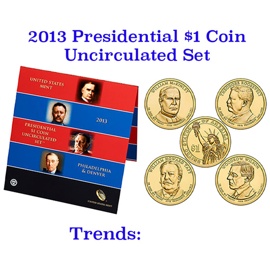 2013 United States Presidential Mint Set 8 Coins P & D Mints