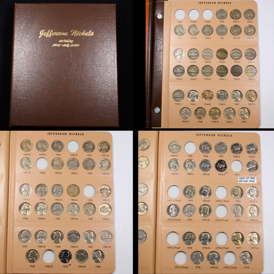 Partial Jefferson Nickel Book 1939-2018 182 coins