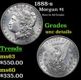 1888-s Morgan Dollar $1 Grades Unc Details