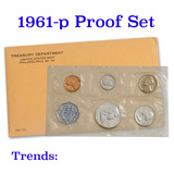 1961 Proof Set in the Original Packaging including mint memo