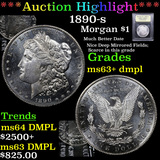 ***Auction Highlight*** 1890-s Morgan Dollar 1 Graded Select Unc+ DMPL By USCG (fc)