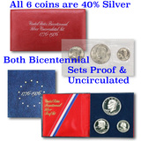 1776-1976 Both Bicentennial Sets Proof And Uncirculated