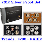 2012 United States Mint Silver Proof Set - 14 pc set, about 1 1/2 ounces of pure silver