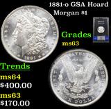 NGC 1881-o GSA Hoard Morgan Dollar $1 Graded ms63 By NGC