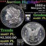 ***Auction Highlight*** 1882-s Morgan Dollar 1 Graded GEM++ PL By USCG (fc)
