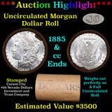 ***Auction Highlight*** 1885 & CC Uncirculated Morgan Dollar Shotgun Roll (fc)