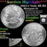 ***Auction Highlight*** 1902-o Vam 4B R6 Morgan Dollar 1 Graded GEM+ Unc By USCG (fc)