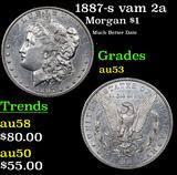 1887-s vam 2a Morgan Dollar $1 Grades Select AU