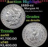 ***Auction Highlight*** 1889-cc Morgan Dollar $1 Grades AU Details (fc)