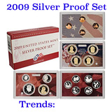 2009 United States Silver Proof Set - 18 pc set, about 1 1/2 ounces of pure silver