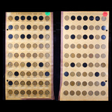 Partial Lincoln Cent Board 1909-1931 46 coins