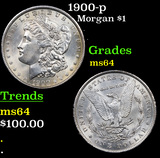 1900-p Morgan Dollar $1 Grades Choice Unc