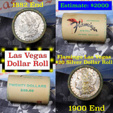 ***Auction Highlight*** Full Morgan/Peace Flamingo Hotel silver $1 roll $20, 1882 & 1900 end (fc)