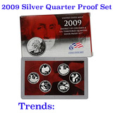 2009 United States Quarters District of Columbia and U.S. Territories Silver Proof Set - 6 pc set
