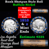 Buffalo Nickel Shotgun Roll in Old Bank Style 'Los Angeles Trust And Savings Bank' Wrapper 1918 & s