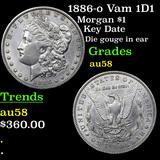 1886-o Vam 1D1 Morgan Dollar 1 Grades Choice AU/BU Slider