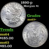 1890-p Morgan Dollar 1 Grades Select+ Unc