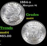 1884-o Morgan Dollar $1 Grades Choice Unc