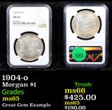 NGC 1904-o Morgan Dollar $1 Graded ms65 By NGC