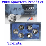 2009 United States Quarters District of Columbia and U.S. Territories Proof Set - 6 pc set