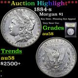 ***Auction Highlight*** 1884-s Morgan Dollar 1 Graded Choice AU/BU Slider By USCG (fc)