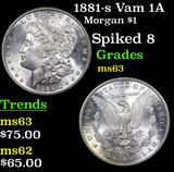 1881-s Vam 1A Morgan Dollar $1 Grades Select Unc